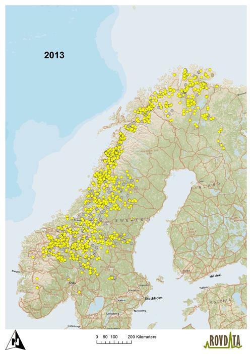 kart nord norge sverige Grenseløs DNA overvåking av jerv kart nord norge sverige