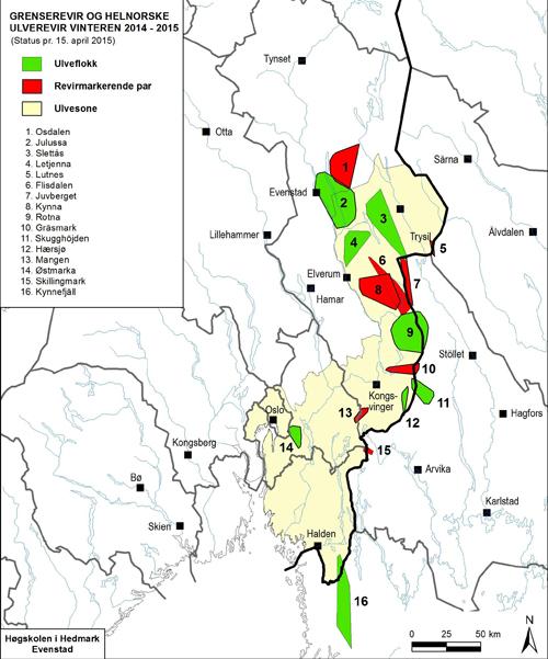 ulvesonen kart Har registrert flere ulver ulvesonen kart