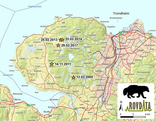 kart over bymarka i trondheim Norges eldste jerv bor i Bymarka i Trondheim kart over bymarka i trondheim