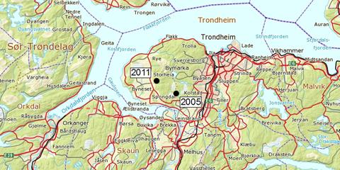kart over bymarka i trondheim Jervetispa er fortsatt i Bymarka kart over bymarka i trondheim