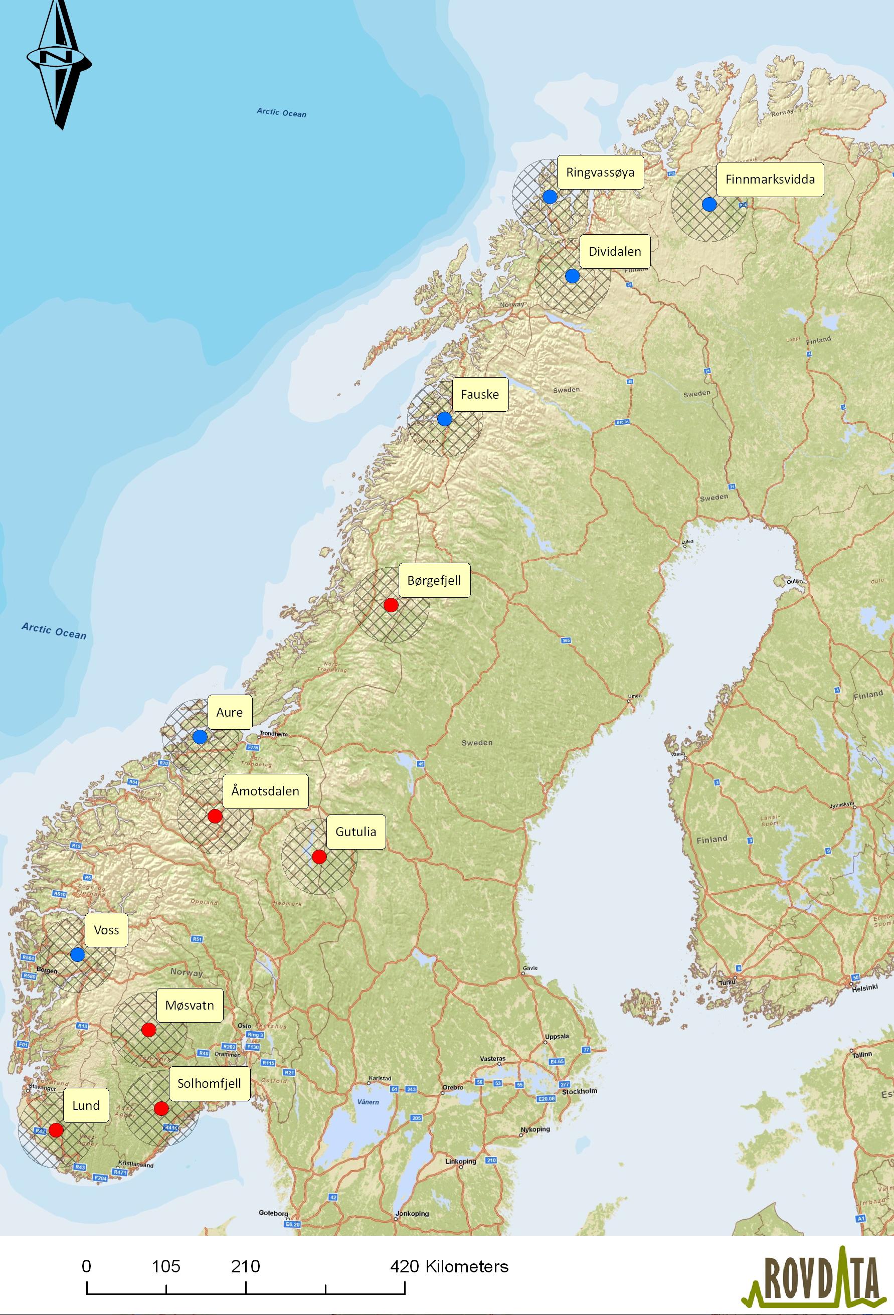 kart over aure Rovdata   Last ned kart og figurer, kongeørn kart over aure
